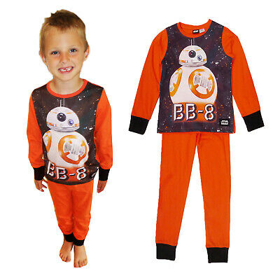 Boys Official Disney Star Wars BB8 Pyjamas Childs Licensed Two Piece Nightwear