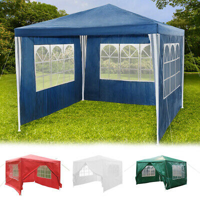 Outdoor 3x3m Garden Marquee PE Patio Canopy Party BBQ Tent Awning Gazebo