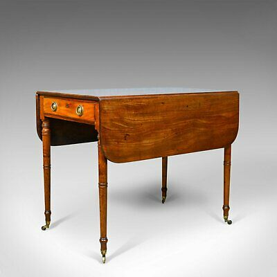 Antique Pembroke Table, Mahogany, English, Regency, Drop Flap Dining Circa 1820