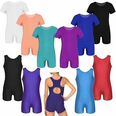 Girls Ballet Dance Leotards Children Gymnastics Training Sport Bodysuit Unitards