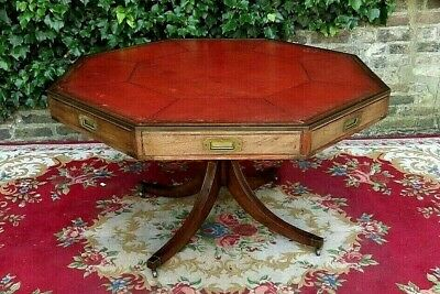 Rare Genuine George 111 Mahogany Rent Or Drum Table For A Nhs Nurses Fund