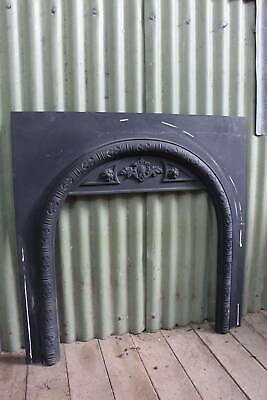 An Agnews Cast Iron Fireplace Fascia - Fire Surround Insert
