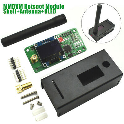 New MMDVM Hotspot Support+OLED+Antennas+Aluminum Alloy Shell for Raspberry Pi