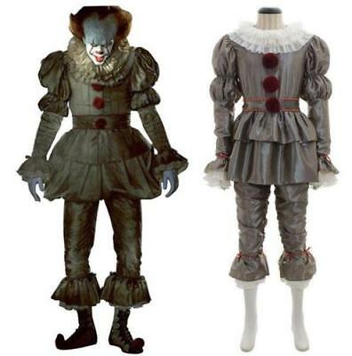 Stephen King 2017 Movie Pennywise Cosplay Halloween The Clown Costume Outfit