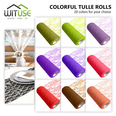 """5.9""""/15cm Width Nylon Lace Tulle Roll Tutu Skirt Fabric Spool Party Supply 4049"""