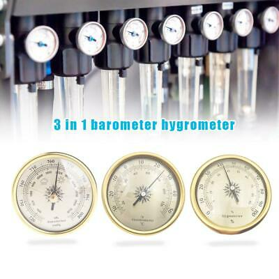 3PCS 72mm Barometer Hygrometer Thermometer for Weather Forecast Weather Station