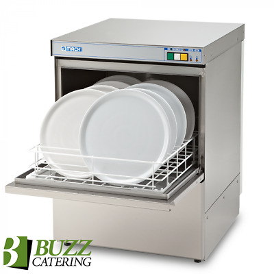 Mach Commercial Dishwasher 500mm 1PH Gravity Waste NEW MS9453-DW