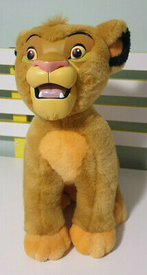 Simba Lion King Plush Toy With Plastic Face Character Toy 38Cm Walt Disney World