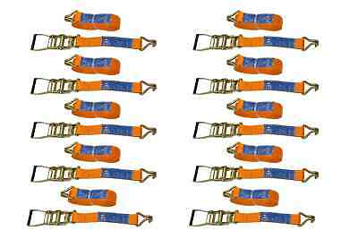SET of 10 RATCHET TIE DOWN STRAPS - 10M / 50 mm / 5T 5000 KG HEAVY CARGO TRUCK