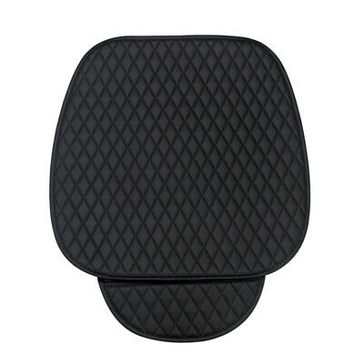 Universal Car Seat Cover Pad Front Seat Cushion Chair Protector Black PU Leather