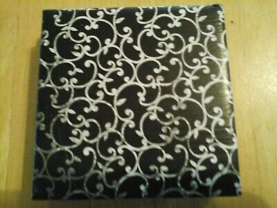 Antique Faded Look on Black - Ceramic Coaster Tiles Set of 4 Bar Table Coasters