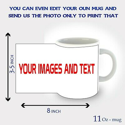 Personalised Mug Custom Photo Cup Gift Tea Coffee Image/Text Promotional Bulk