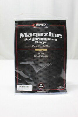 """1 Pack (100) BCW 8 7/8"""" x 11 1/8"""" Resealable Thick Magazine Storage Bags"""