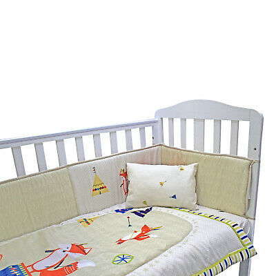 5 or 3 pc LUXURY COT //COT BED BABY BEDDING SET bumper quilt pillow 60x120 70x140