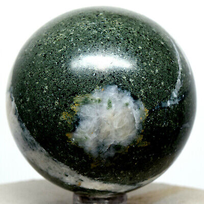 "2.2"" Green Apatite Sphere Natural Sparkling Mineral Polished Crystal Stone Peru"