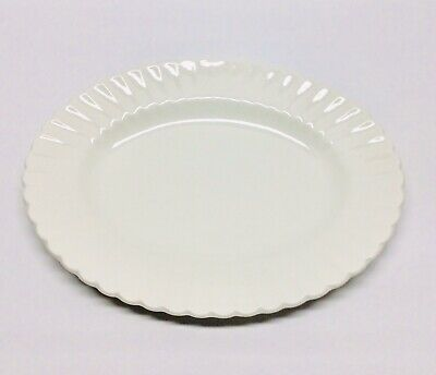 """J & G Meakin Classic White England 12""""Ribbed Rim Scalloped Platter Serving Plate"""