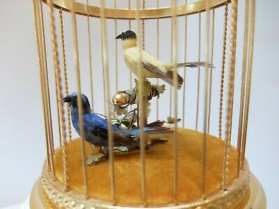 Vintage Reuge Singing Bird Cage Automaton Music Box (Watch Video)