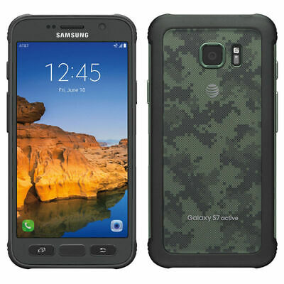 Samsung Galaxy S7 Active SM-G891A 32GB AT&T Unlocked Android 9/10 Cellphone 5.1""