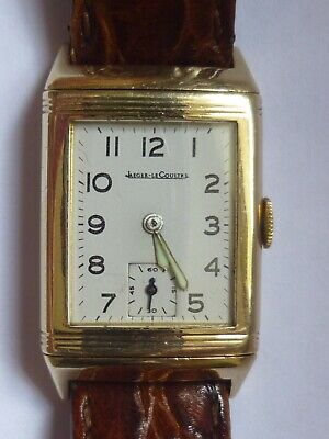 Rare Early 9Ct Gold Jaeger Le-Coultre Reverso Wristwatch 1938
