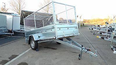Trailer 8x4 single axle 750kg unbraked Cage sides Trailer  @wychavon trailers