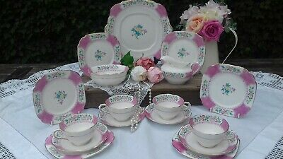 Royal Albert Crown China Tea cup & saucer set  Flower Hand Painted 1920's
