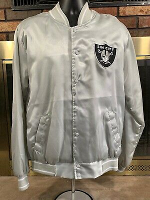 ad8b85da2 RARE🔥 NFL OAKLAND Raiders Suede Jacket Quilted Football Sz M Men's ...