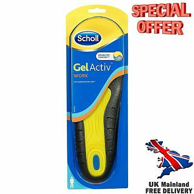 MEN GEL ACTIVE Work Insoles, Dr Scholl, UK Size 7 to 12 Ultra Comfort Footwear