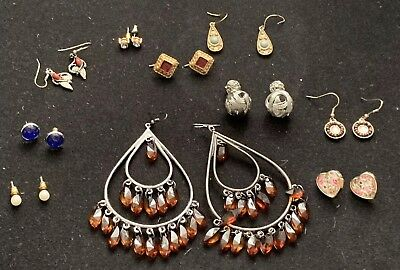 10 Pairs Pierced Earrings Various Designs Costume Jewellery
