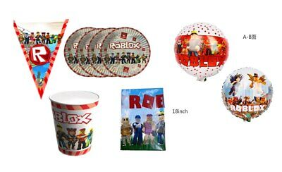 Roblox Cup Plate Banner / Flag Kids Baby Birthday Party Decoration Supplies