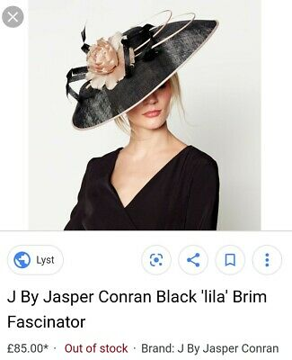 Jasper conran lila black nude blush pink fascinater races wedding hat headpiece