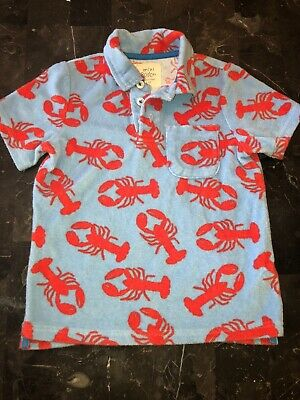 Mini Boden Boys 5-6 Years Terry Cloth Lobster  Shirt