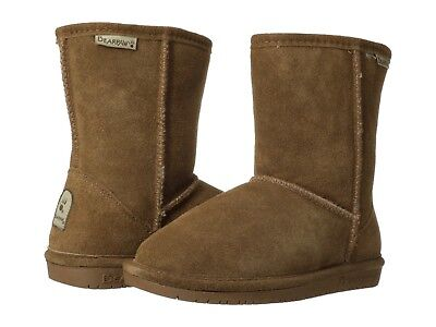 Bearpaw Toddler Emma Boot 608T Zipper Hickory II Suede100/% Authentic Brand New