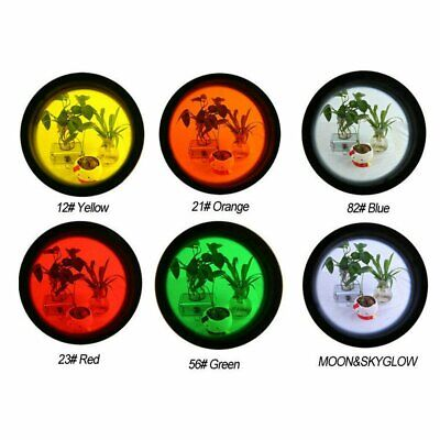 Mist Filter Moon 1.25 Inch 6 Color Set Yellow Orange Red Green Blue Moon JH