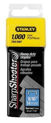 """Stanley Sharpshooter 9/16"""" Heavy Duty Staples TRA709T (1000 Pack)"""