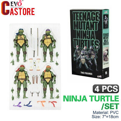"NECA Teenage Mutant Ninja Turtles TMNT 2018 SDCC 1990 7"" Action Figure Toy"