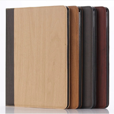 WOOD timber imitation synthetic leather Case Cover iPad 6th Gen 2018 A1893 A1954