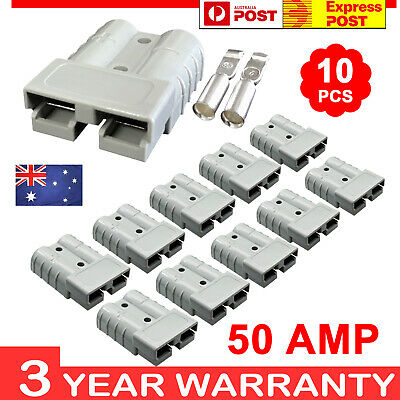 10 x Anderson Style Plug Connectors 50 AMP 64WG 12-24V DC Power Tool