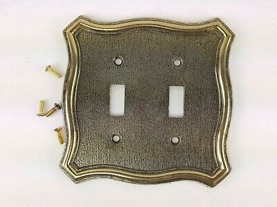 Brushed Brass Double Switch Cover Plate Decorative