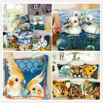 Animals Cushion Cover Making Latch kits Hook Rug For Adults Beginners Embroidery