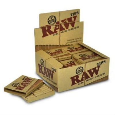 Raw Filter Tips Pre-Rolled tips Chemical And Chlorine Free 20 Booklets