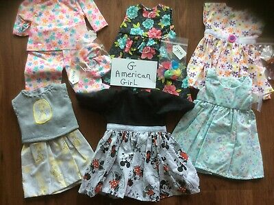LOT Doll Clothes To Fit American Girl Dolls 18 Inch Summer Clothing Mickey Mouse