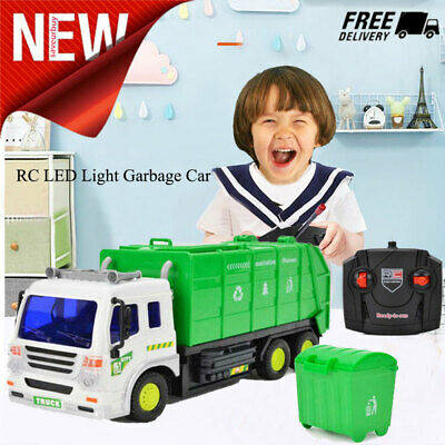 TOYS FOR BOYS RC Truck Remote Control Garbage Truck Car 3 4 5 6 7 8 9 Year  Old