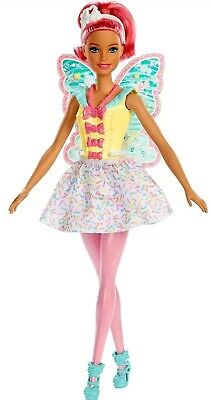 """Barbie DREAMTOPIA Sweetville Fairy Doll with Pink Hair 11.5"""" Doll"""