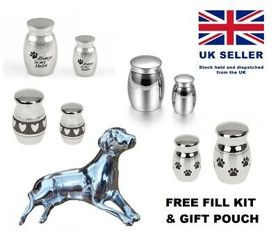 Small Mini Urn Ashes Pet Cat Dog Keepsake Cremation Funeral Jewellery Container