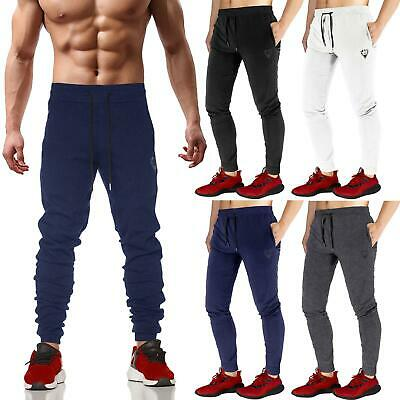 Mens Slim Fit Jogging Bottoms Tracksuit Skinny Sweat Pants Joggers Gym Trousers