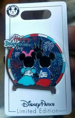 Disney Parks Mickey and Minnie Mouse Happy Independence Day 2019 Trading Pin