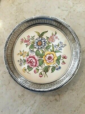 Wallace Sterling and Wheeling Ceramic Plate