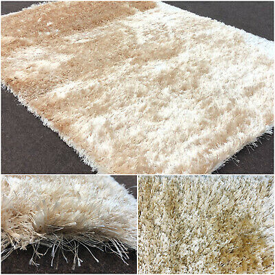 SALE CLEARANCE LOW PRICE eBay SPARKLE SHAGGY CHAMPAGNE MODERN QUALITY LARGE RUGS