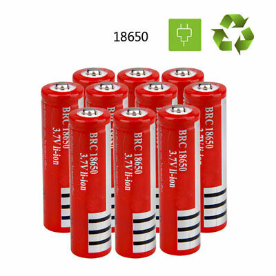 10X VASTFIRE 18650 Li-ion Battery Torch LED Flashlight 3.7v 3000mAh Rechargeable