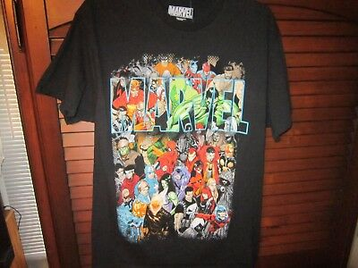 Marvel/DC/Comics/T-Shirt ( Super-Heroes ) Preowned/Size/Large/Very/Nice
